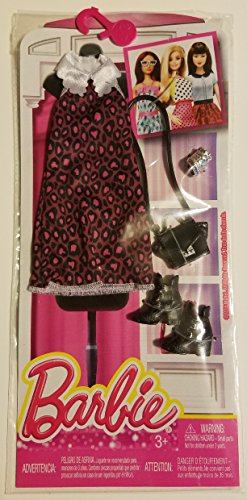Barbie Seasonal Fashion Pack-Pink, Black  White Dress with Black Boots
