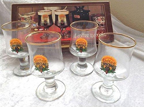 4 Dema Vintage Specials Irish Coffee Liqueur Glasses