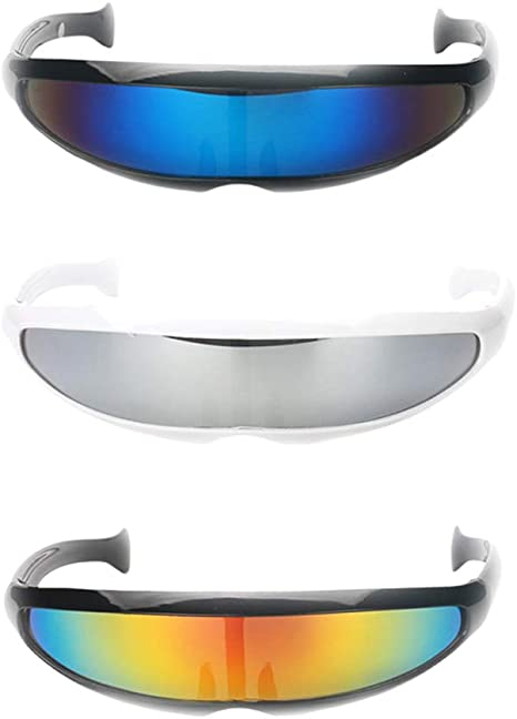 3/Pack Novelty Futuristic Shield Sunglasses Party Glasses Costume by Unknown