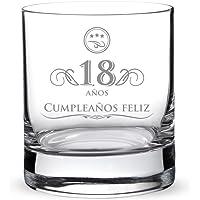 AMAVEL Vaso de Whisky para Hombres de Vidrio