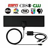 HDTV Antenna,Indoor Amplified TV Antenna 40 Mile Range with Detachable Amplifier Signal Booster