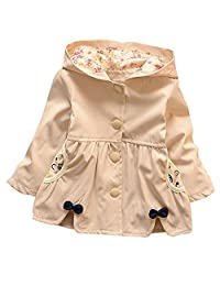 Baby Kid Little Girls Spring Fall Coat Smiling Face Hooded Jacket Coat Outerwear