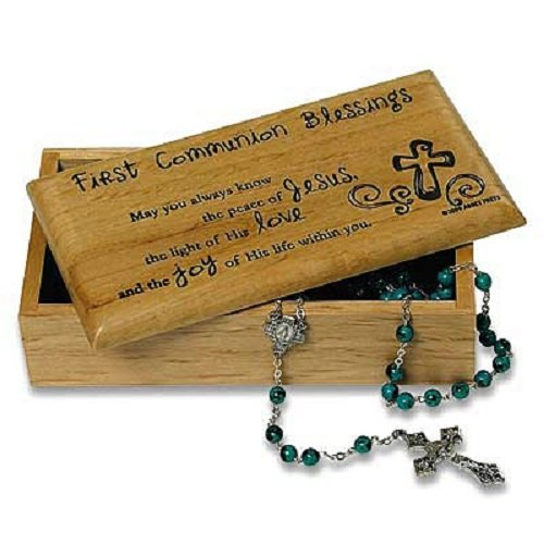 Abbey Press First Communion Trinket Box - Inspiration Faith Blessing Spirit 50179C