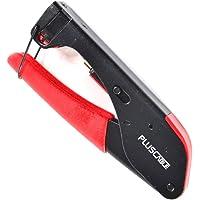 Alicate de Crimpar PlusCable RG59 e RG6 LT-C50 Preto e Vermelho