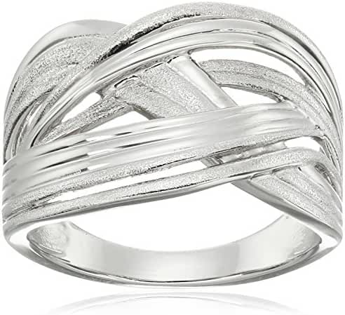 Sterling Silver Fluted Collection Ring