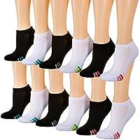 Tipi Toe Women's 12-Pairs Low Cut/No Show Athletic Sport Socks