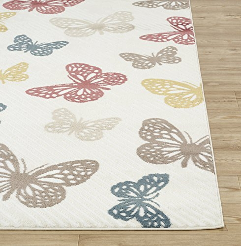 "Rugshop Modern Butterfly Area Rug, 5' 3"" x 7' 3"", Multi"