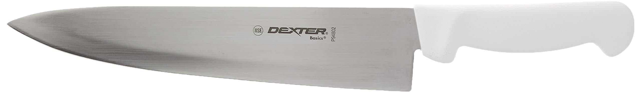 Dexter Russell P94802 Basics 10'' Cooks Knife w/White Handle