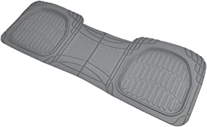 Motor Trend PRO920 Premium FlexTough Deep Dish Complementary Rear Rubber Floor Mats Liners All-Weather Protection Universal Design for Cars Sedan Truck SUV, Gray