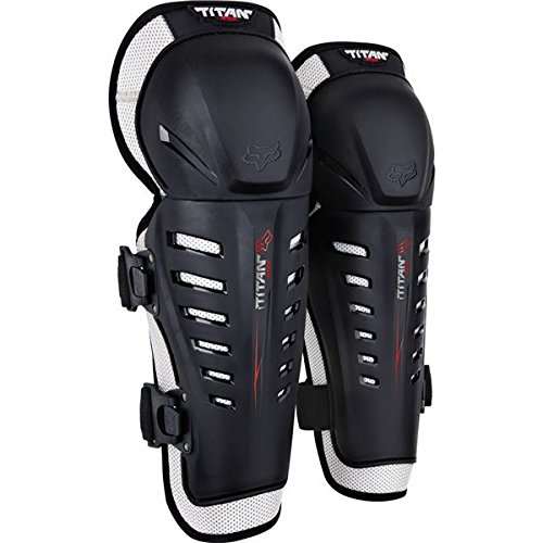 Fox Racing Titan Race Youth Knee/Shin Guard Motox/Off-Road/Dirt Bike Motorcycle Body Armor - Black/One Size ()