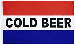 FLAGLINK 3X5 Business Sign Cold Beer Flag