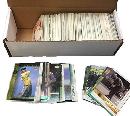 Golf Trading Card Collector Box w/ 500 Cards - Nice Mixture - Includes Tiger Woods