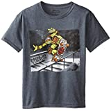 Teenage Mutant Ninja Turtles Big Boys' Photoreal T-Shirt Shirt, Charcoal Heather, Medium / 10/12