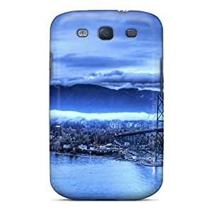 Galaxy Cover Case - The Blue Storm Protective Case Compatibel With Galaxy S3
