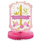 "14"" Pink and Gold Girls 1st Birthday Centerpiece Decoration"