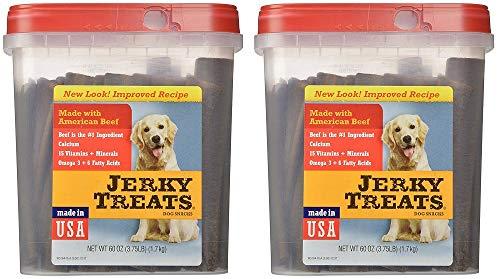 Jerky Treats Tender Beef Strips Dog Snacks (2 x 60 ounce) (Omega Beef Treats)