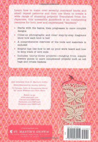 Macrame Pattern Book: Includes Over 70 Knots and Small Repeat Patterns Plus Projects