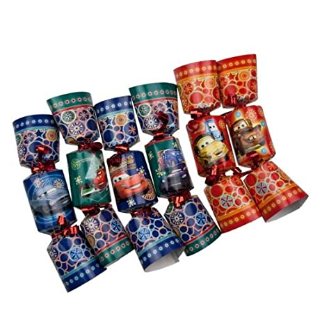 Christmas Crackers Contents.Disney Cars 2 Novelty Mini Christmas Crackers Pack Of 6 X
