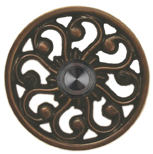 Waterwood Brass Veda Doorbell in Oil Rubbed Bronze by Waterwood