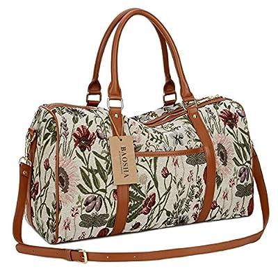 BAOSHA HB-29 Ladies Women Canvas Carry-on Weekender Bag Travel Duffel Tote Bag Weekend Overnight Travel Bag