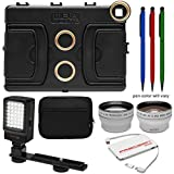 Melamount MM-IPAD PRO 9.7 Video Stabilizer Pro Multimedia Rig for Apple iPad PRO 9.7 with LED Video Light + Case + Power Bank + + Tele/Wide Lens Kit