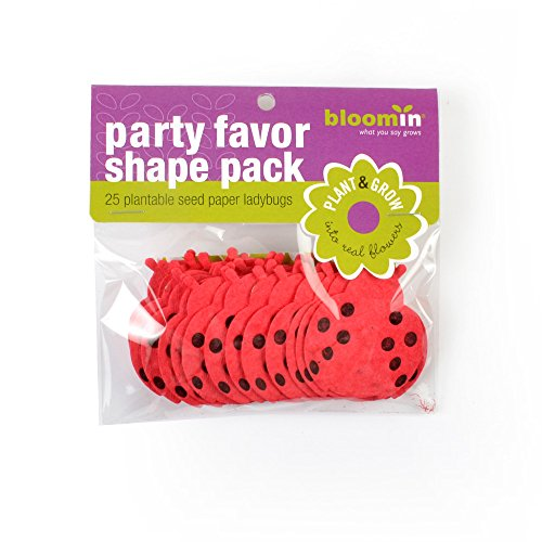 Bloomin Seed Paper Shapes Packs - Lady Bug Shapes - 25 Shapes Per Pack - 1.8x2