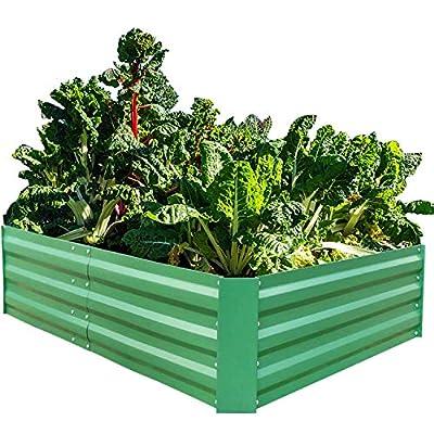 Metal Raised Garden Bed Large Planter Box for Vegetables Flower Plant Stand Corner Indoor Outdoor Patio