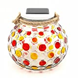 Sumworld Color Changing Solar Powered Glass Ball LED Garden Lights Rechargeable Solar Table Lights Outdoor Waterproof Solar Night Lights Table Lamps for Christmas Decorations
