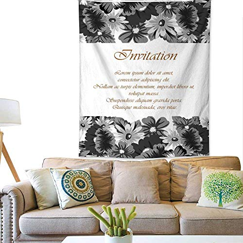 BlountDecor Simple Tapestry Flower Frame for Your Designs Greeting Cards Greeting Cards Invitations for Wedding Birthday Party Valentine s Day 60W x 80L INCH ()