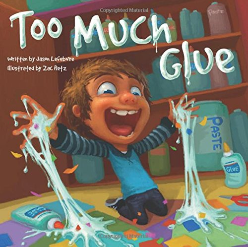 Too Much Glue is a fun and silly story that children, especially those who love to get messy, will enjoy. Too Much Glue can also be used as an effective mentor text for learning how to appropriately use school supplies!
