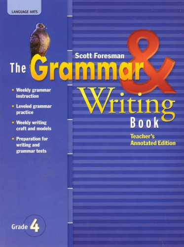 Language Arts, The Grammar and Writing Book, Grade 4, Teachers's Annotated Edition PDF