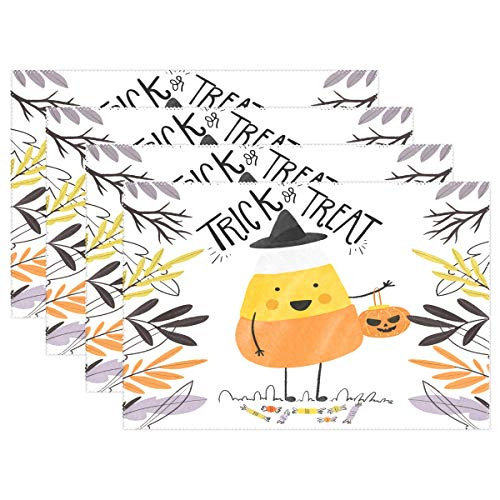 (Jojogood Cute Halloween Background Placemat Dining Table Mat 12