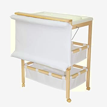 4b147a6c05e5 Portable Changing Unit Baby Table Nursery White Wooden Mat Bath Nappy  Toddler Small Bathroom &E Book: Amazon.co.uk: Baby