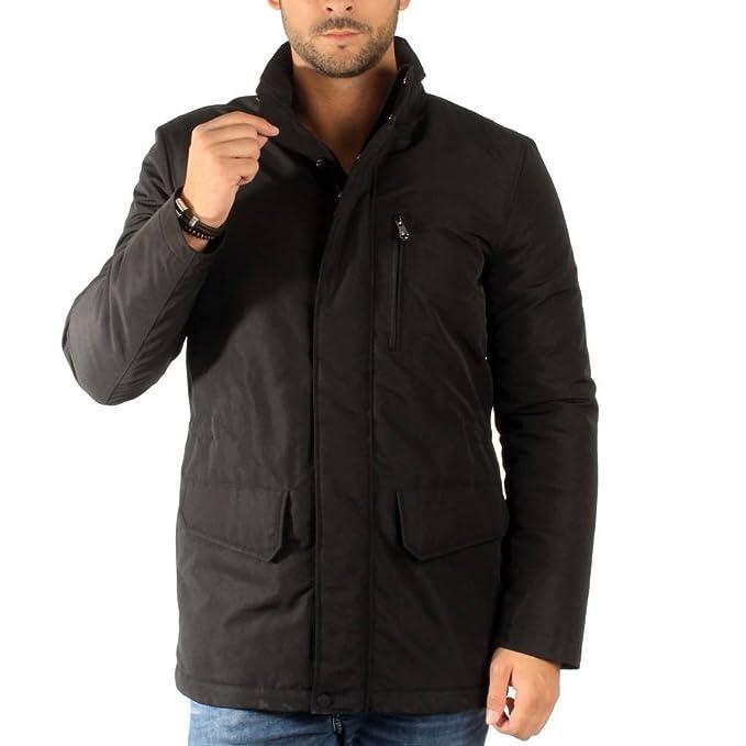 Geox Abrigos para Hombre, Color Negro, Marca, Modelo Abrigos para Hombre Abrigo Invierno Hombre Negro: Amazon.es: Ropa y accesorios
