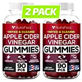 (2 Pack | 180 Gummies) Apple Cider Vinegar Gummies with Mother - Detox, Cleanse Support - Bloating Relief - Gummy Alternative to Apple Cider Vinegar Capsules, Pills, ACV Tablets Made in USA