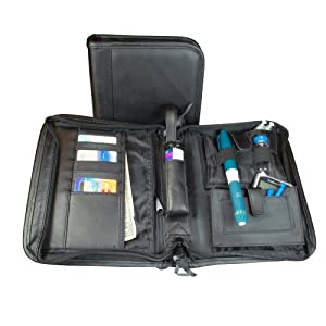 Leather High Profile Diabetes Supply Case from BeticBag