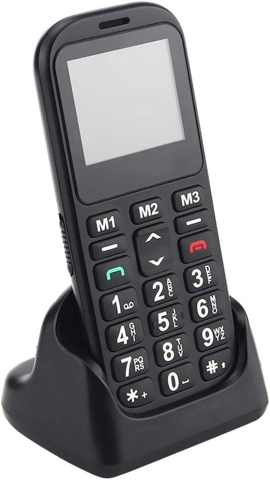 Teléfono Movil para Mayores Personas con Teclas Grandes, Botón SOS, Fácil de Usar Celular para Ancianos, Batería 800 mAh, TFT a Color 1.77