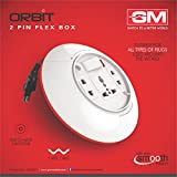 GM 3071-Orbit 2 Pin Flex Box 5 meter (with Indicator and International Socket) color may vary