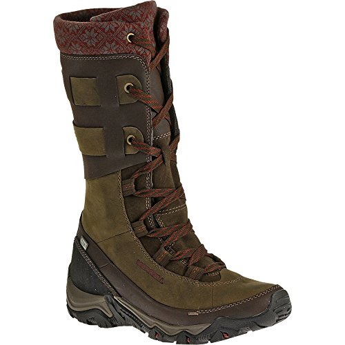 Merrell Women's Polarand Rove Peak Waterproof Winter Boot,Black Slate,10.5 M - Women Boots Merrell