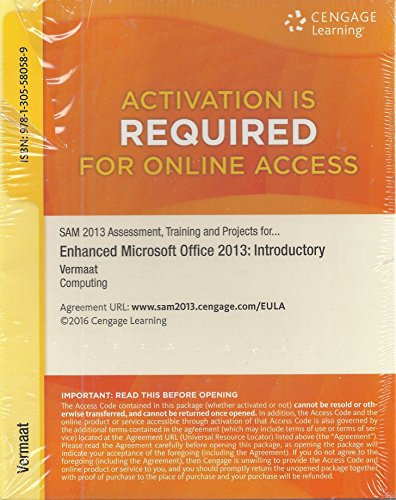 Training, and Projects with MindTap Reader for Enhanced Microsoft Office 2013: Introductory v3.0 Multi-Term Printed Access Card ()