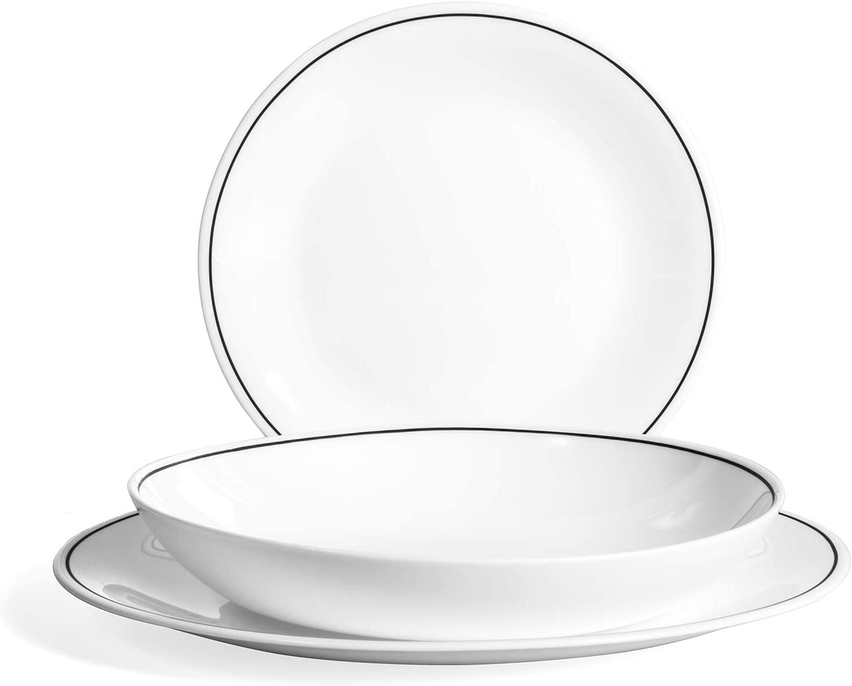 Set piatti tavola Bormioli Set 18 piatti tavola Chiaroscuro 0771388