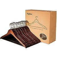 Topline Classic Wood Suit Hangers - 20 Pack