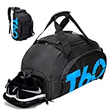 Gym Bag 35L Small Travel Duffle Bag Backpack with Shoes Compartment for Men, Mini Sports Gym Backpack Travel Luggage Bag