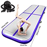 Double EUST Purple 9.84ft/13.12ft/16.4ft/19.68ft Airtrack Air Track Inflatable Pad Gymnastics Tumbling Home Yoga Mat W/Pump