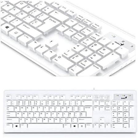 Genius Slimstar 130 - Teclado Usb, color blanco: Amazon.es ...