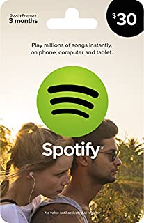 Spotify Gift Card $30 (B00G3LBDDS) | Amazon Products