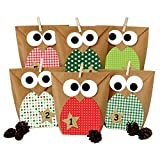 DIY Advent calendar - Christmas owls red – Advent calendar for making and filling