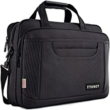 Ytonet Laptop Briefcase,15.6 Inch Laptop Bag,Business Office Bag for Men Women,Stylish Nylon Multi-Functional Shoulder Messenger Bag for Notebook Computer Tablet MacBook Acer HP Dell Lenovo,Black Grey