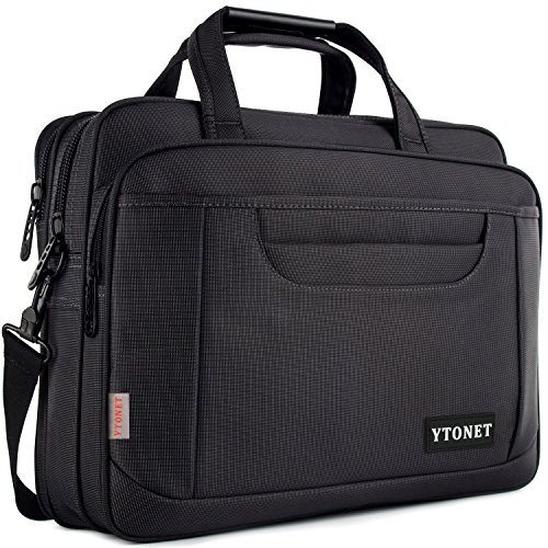 Ytonet Laptop Briefcase,15.6 Inch Laptop Bag,Business Office Bag for Men Women,Stylish Nylon Multi-Functional Shoulder Messenger Bag for Notebook/Computer/Tablet/MacBook/Acer/HP/Dell/Lenovo,Black Grey