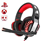 Gaming Headset for PS4 Xbox One, Beexcellent Stereo Surround Deep Bass Comfort PC